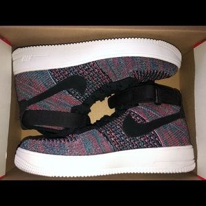 Nike Air Force 1 Mid Multi Color Flyknit